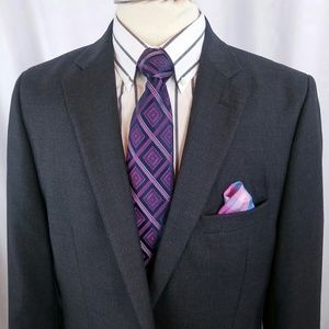 Stafford Tailored Culture Blazer 42XT Gray 2btn